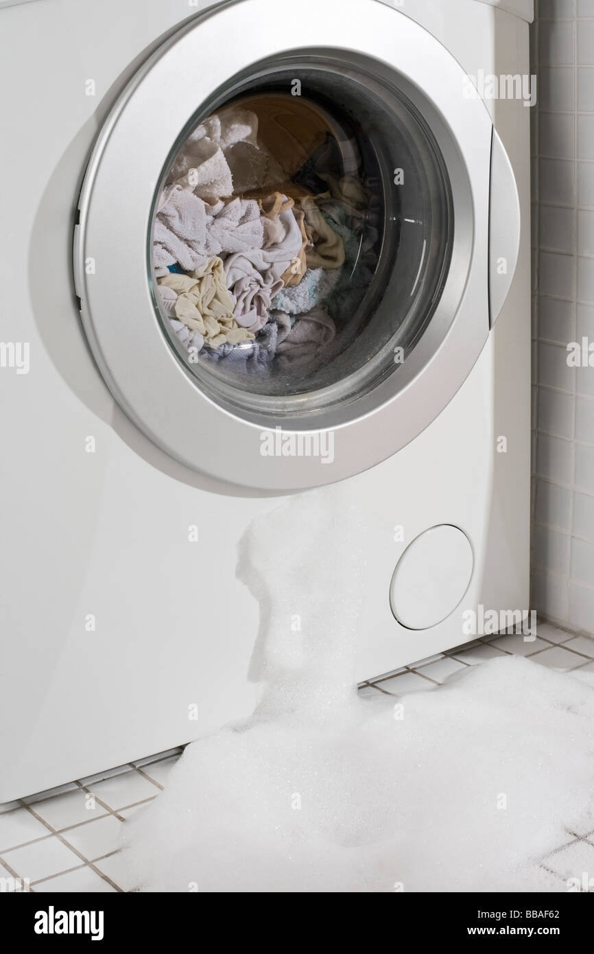 Washing Machine Leaking >> A Leaking Washing Machine Stock Photo 24203034 Alamy