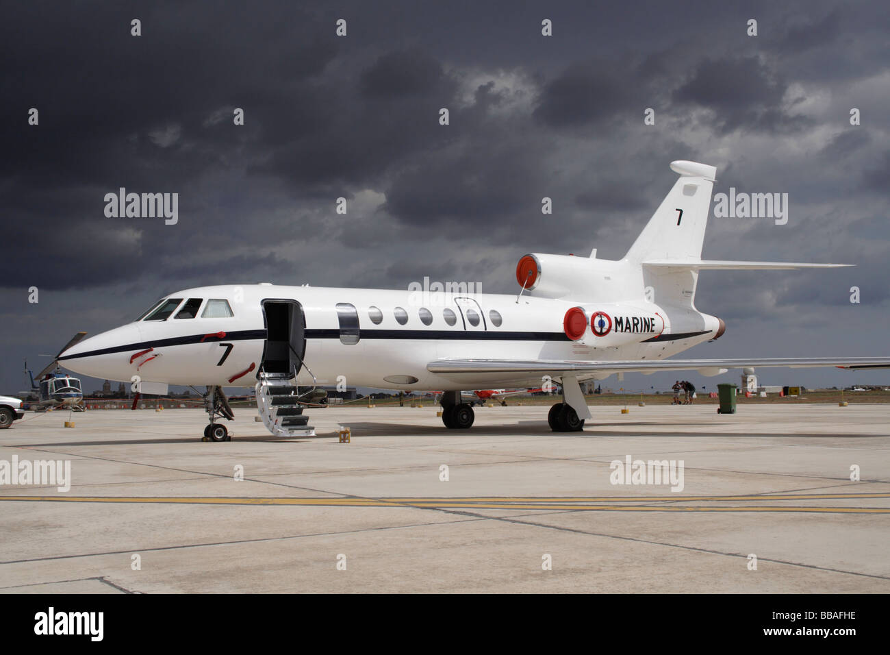 Dassault Falcon 50M maritime surveillance jet of the French Navy - Stock Image