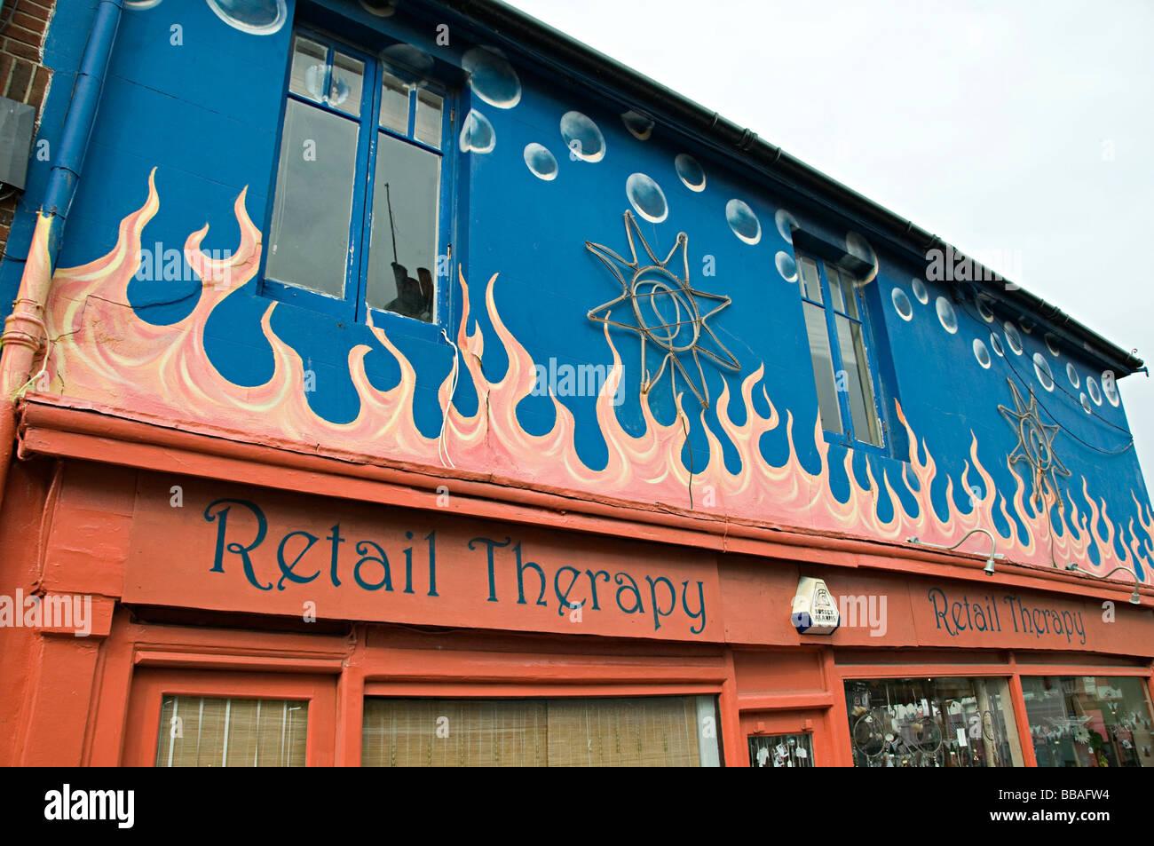 Retail therapy Brighton boutique eco friendly shop - Stock Image