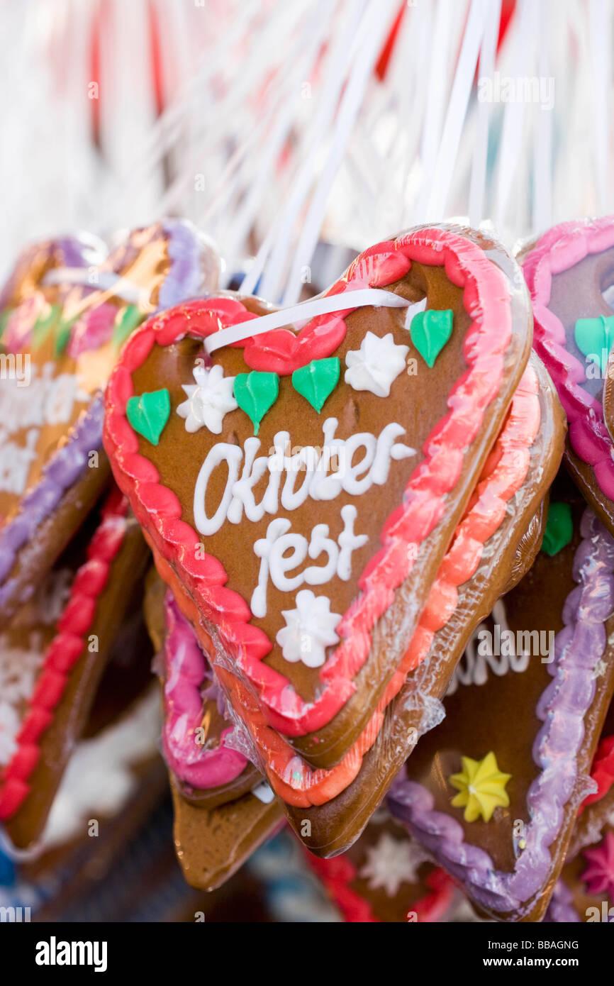 German Lebkuchen Hearts Oktoberfest Stock Photo 24204252 Alamy