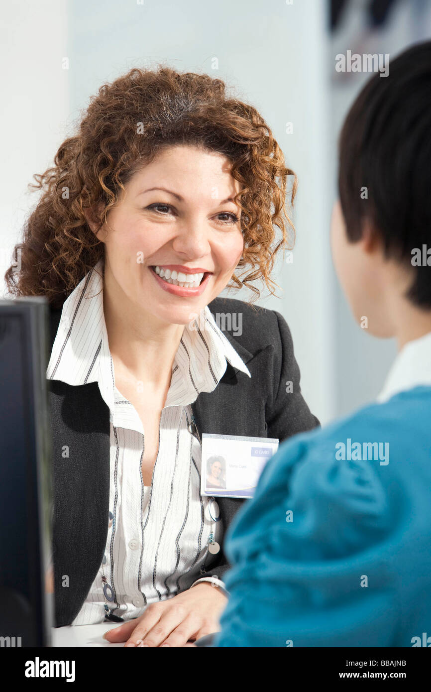 Friendly customer service - Stock Image