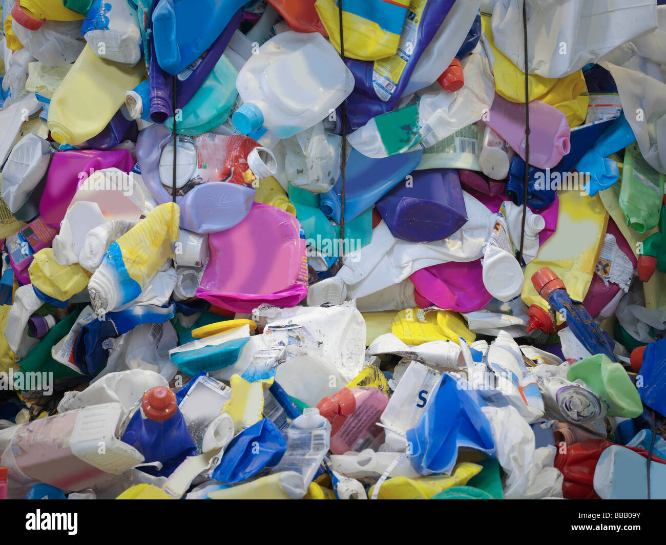 Plastic Containers In Recycle Plant - Stock Image