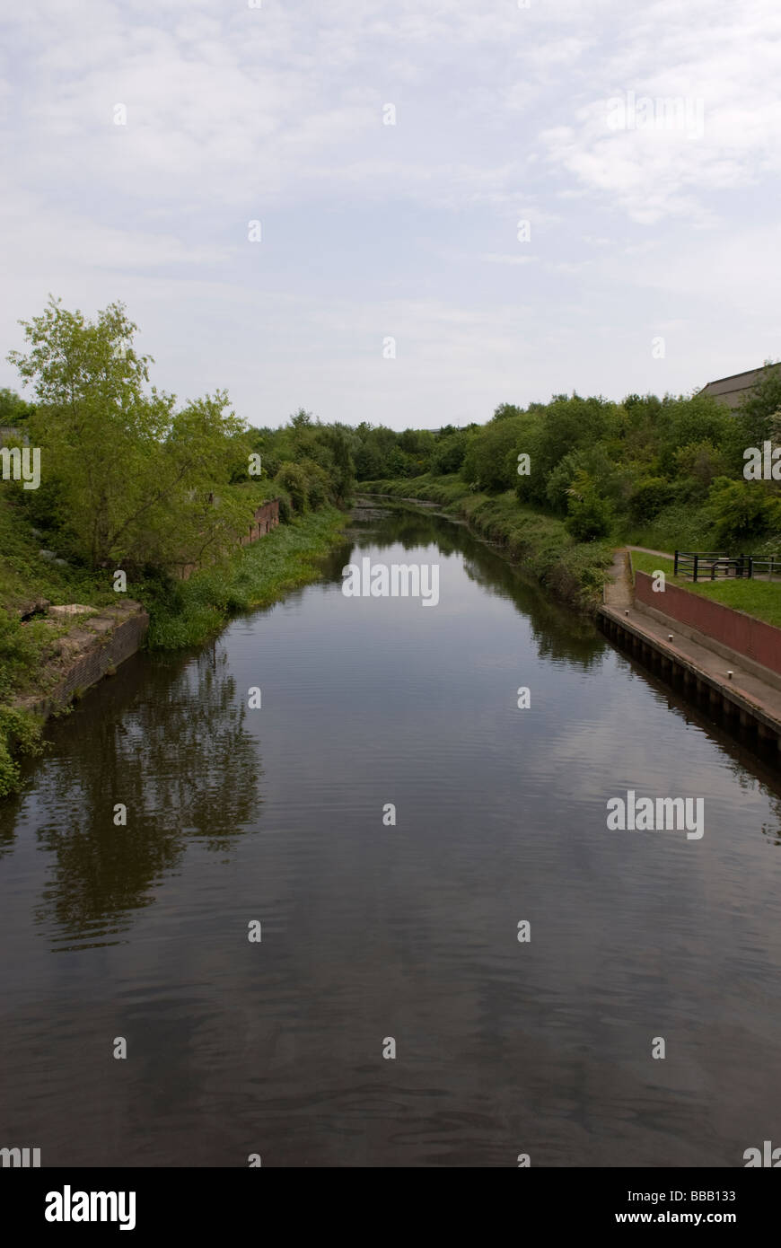 The Sheffield to Tinsley Canal South Yorkshire England - Stock Image