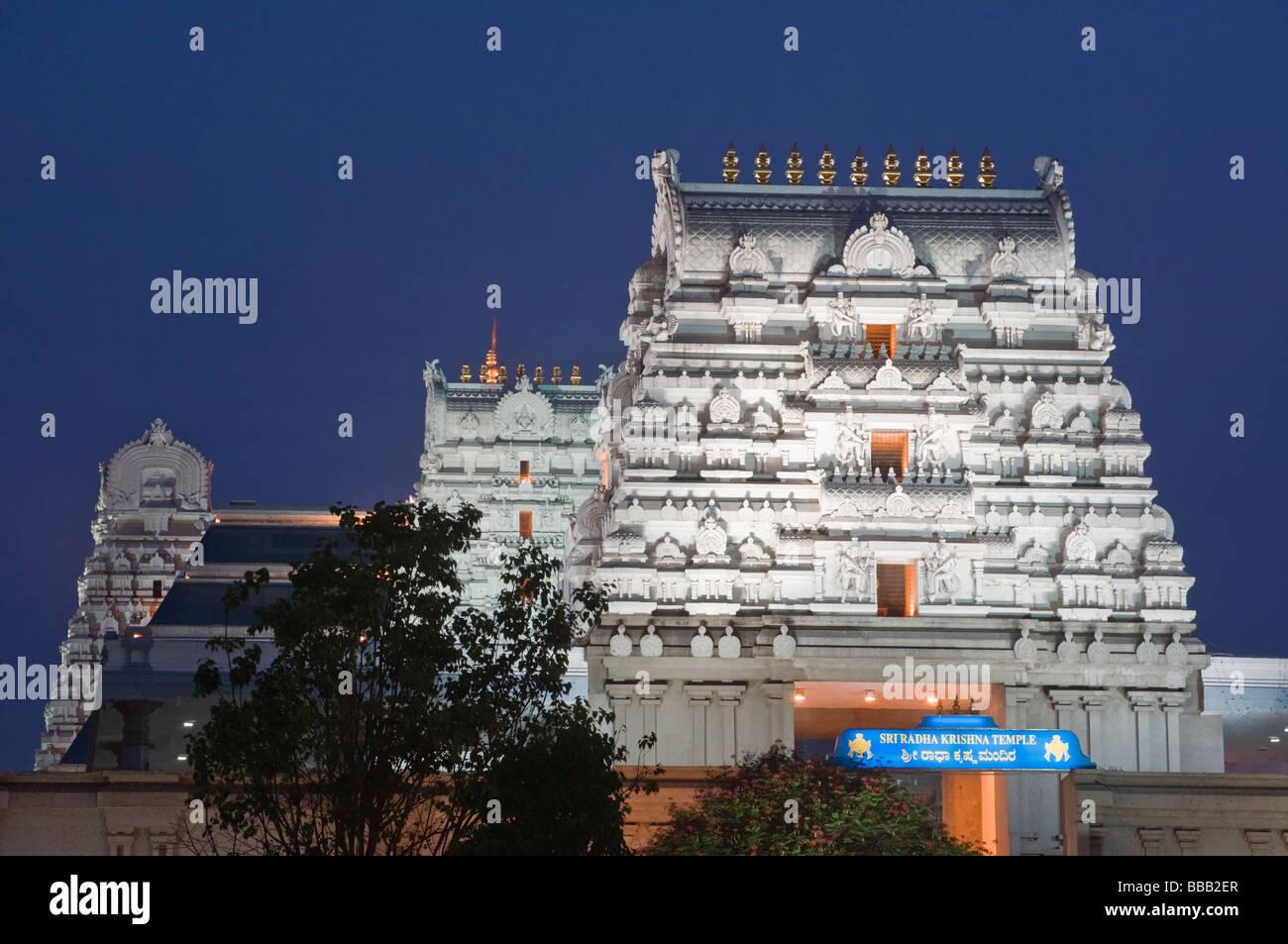 Iskcon Temple Bangalore Karnataka India Stock Photo