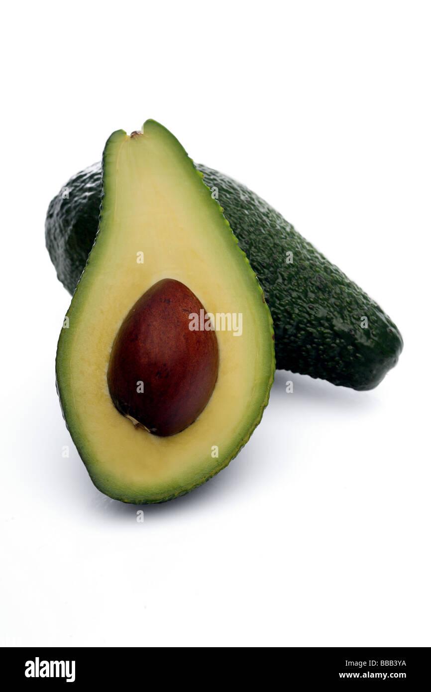 Fresh green Avocado - Stock Image