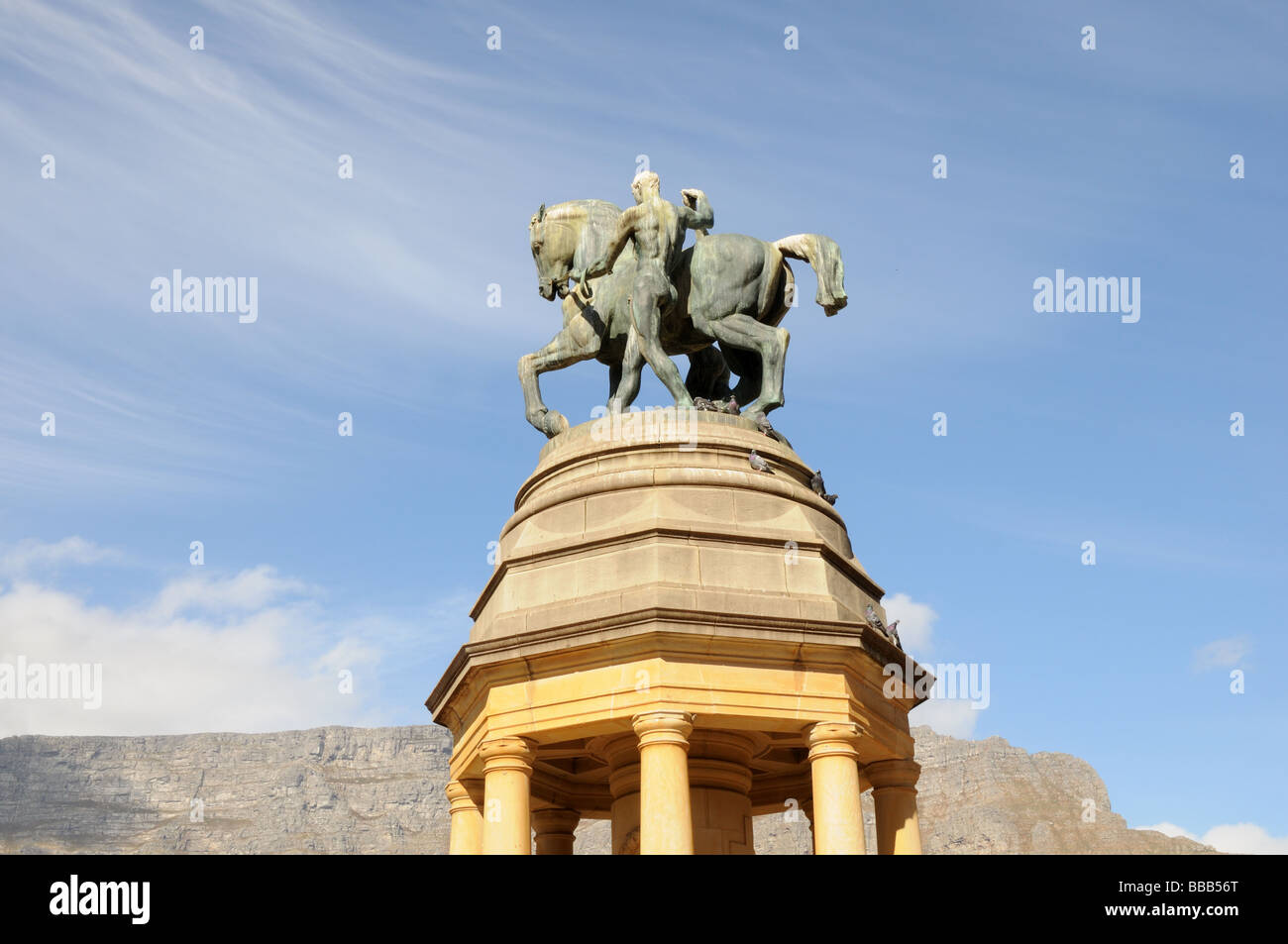 Memorial to Delville Wood Battle of The Somme Company's Garden Cape town South Africa - Stock Image