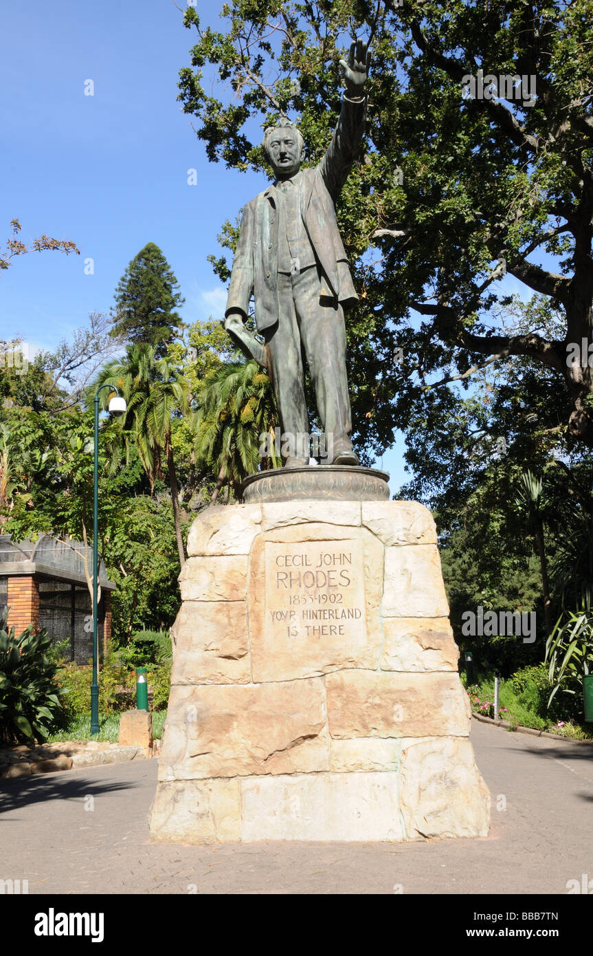 Memorial to Cecil John Rhodes 1853-1902 Company's Garden Cape Town South Africa - Stock Image