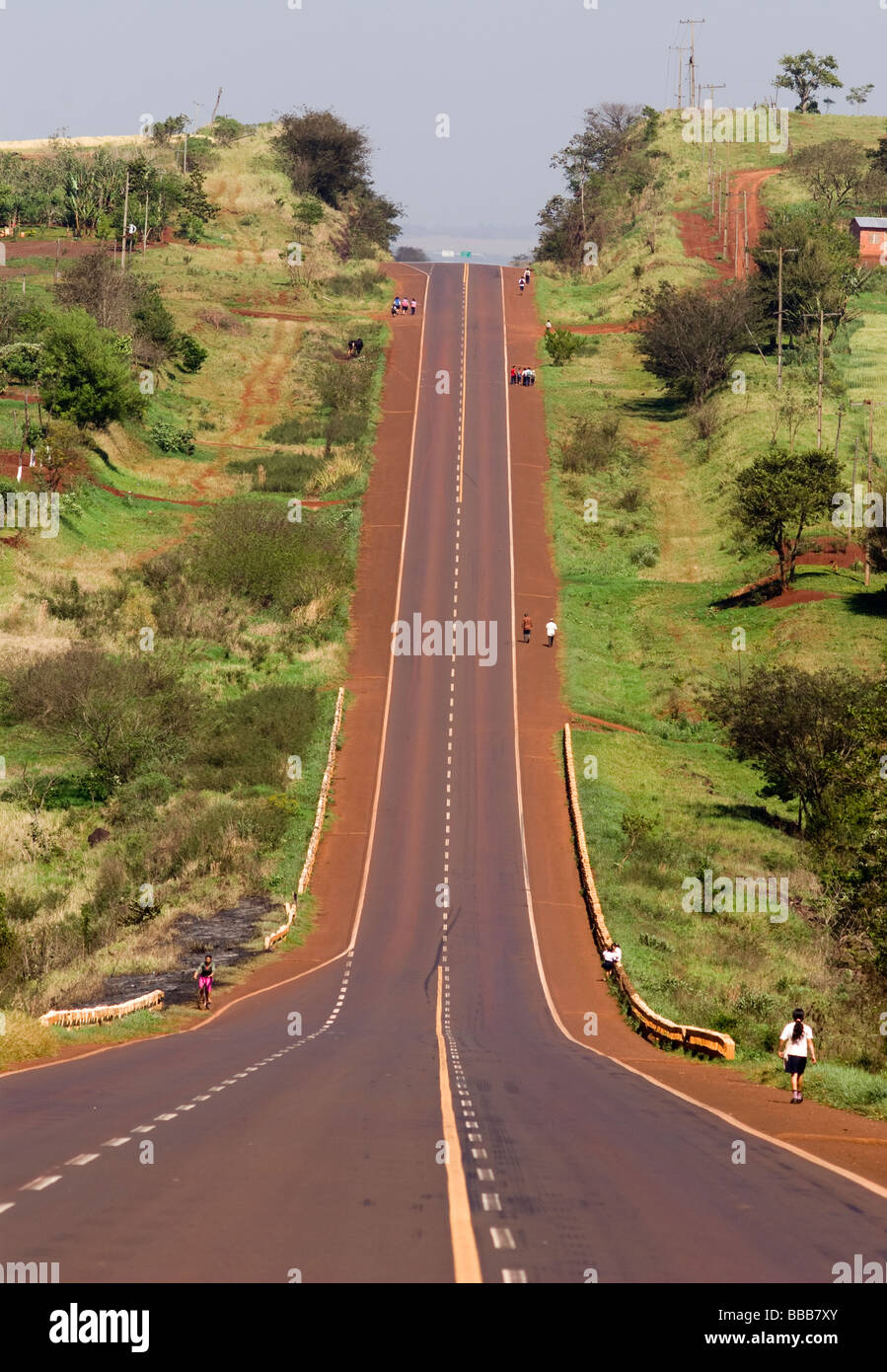 Paraguay.Itapuá Department.Route 6,Encarnación to Ciudad del Este. - Stock Image