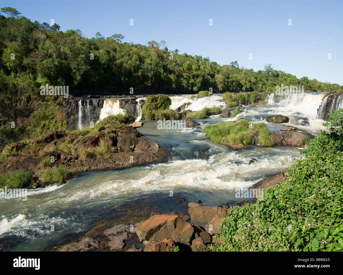 Paraguay.Department Alto paraná.Waterfalls of Monday River. - Stock Image