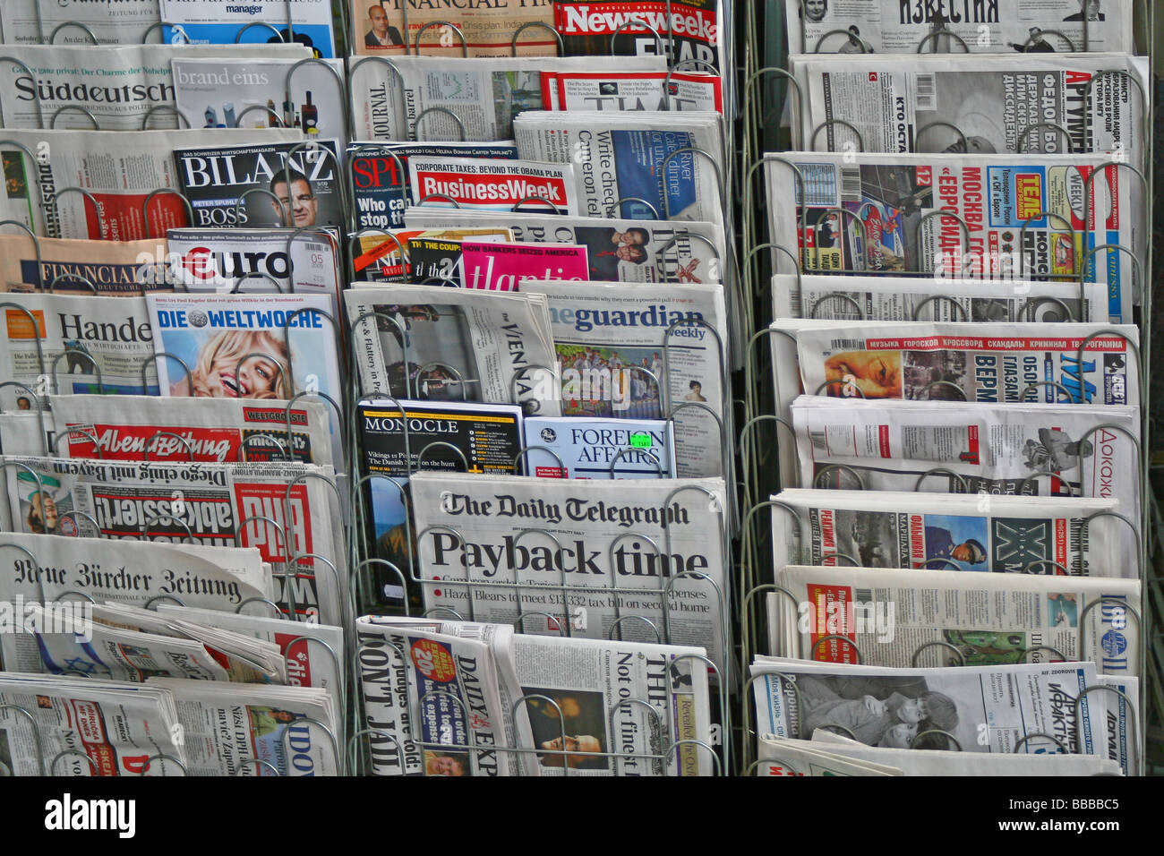 Newspaper stand - Stock Image