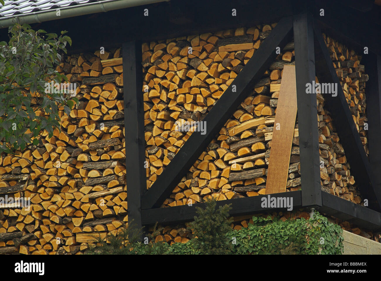 Holzstapel stack of wood 21 Stock Photo