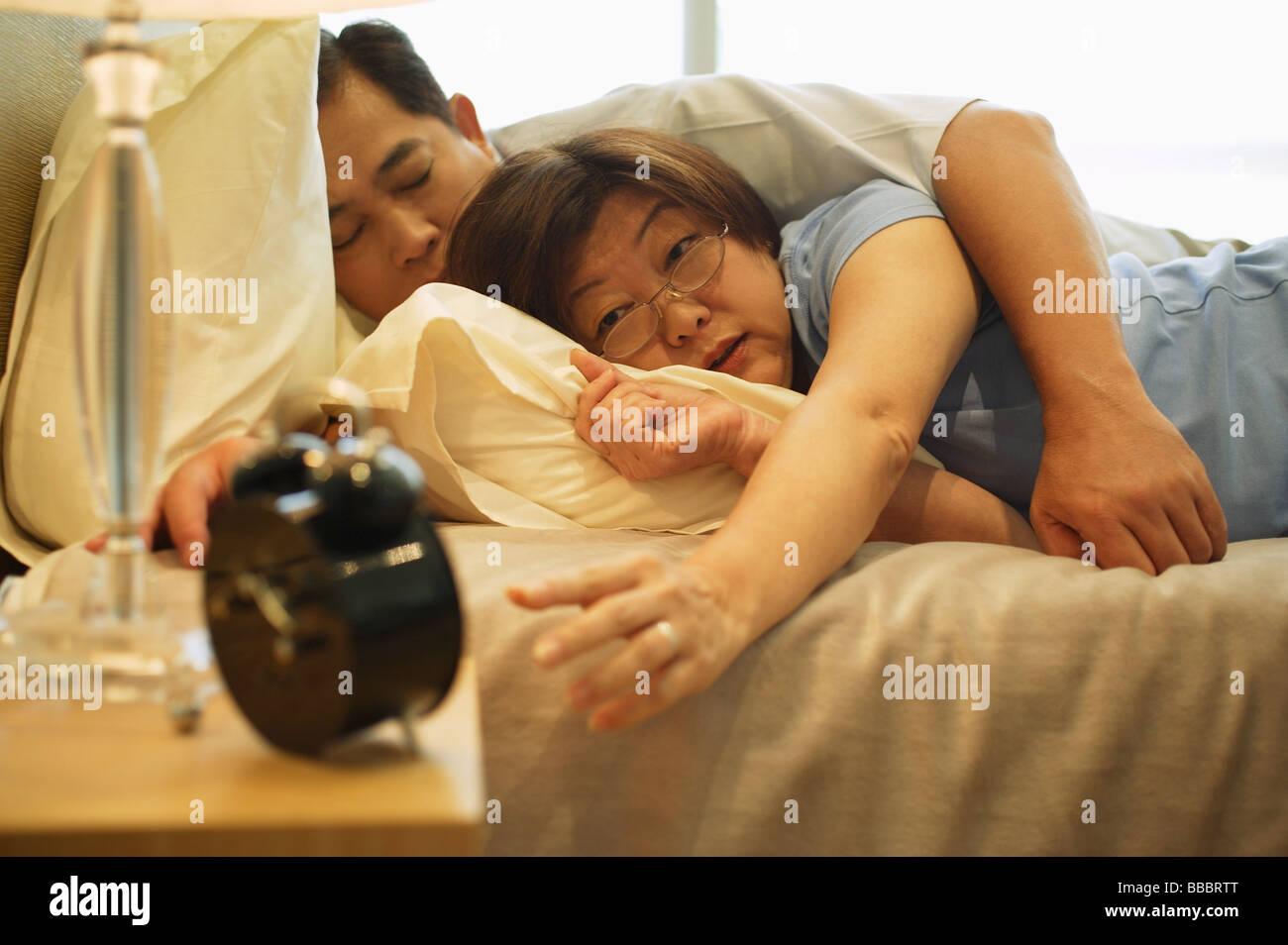 Sleeping asian mature
