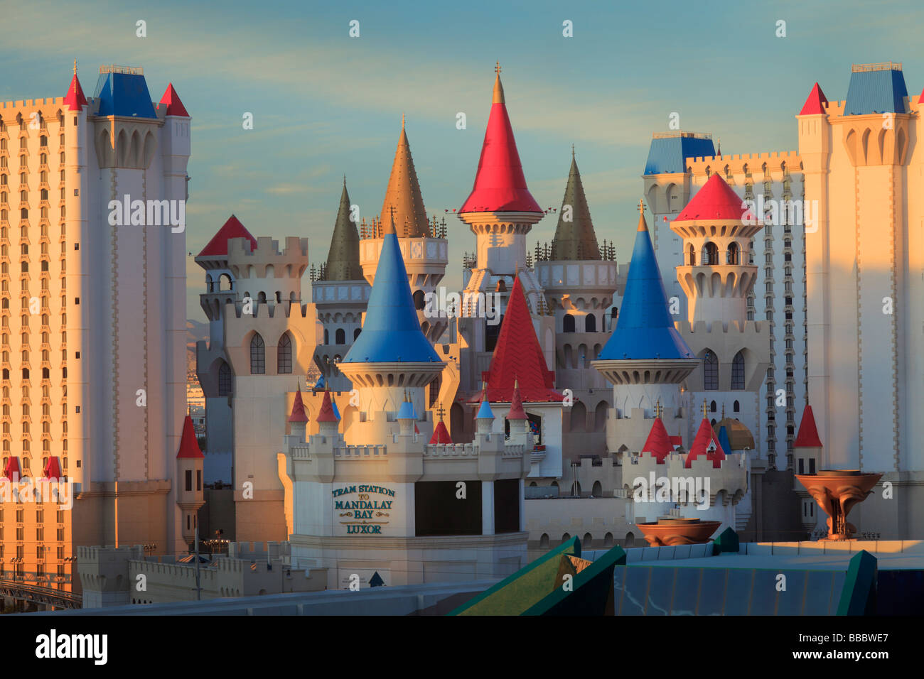 Excalibur Hotel in Las Vegas in the state of Nevada, USA - Stock Image