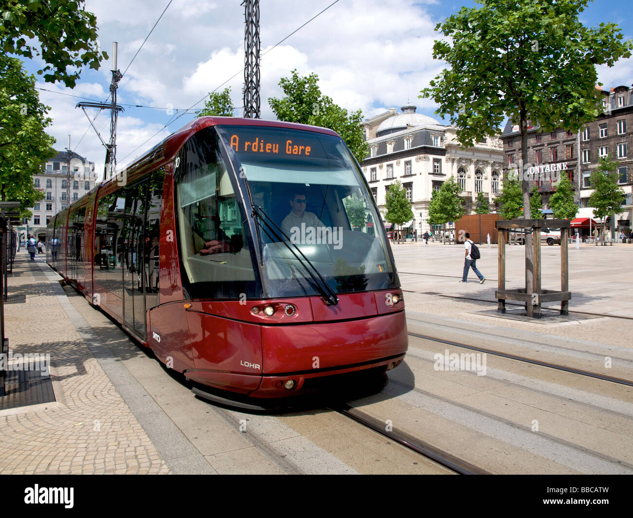Tram in Clermont Ferrand, Auvergne, France - Stock Image