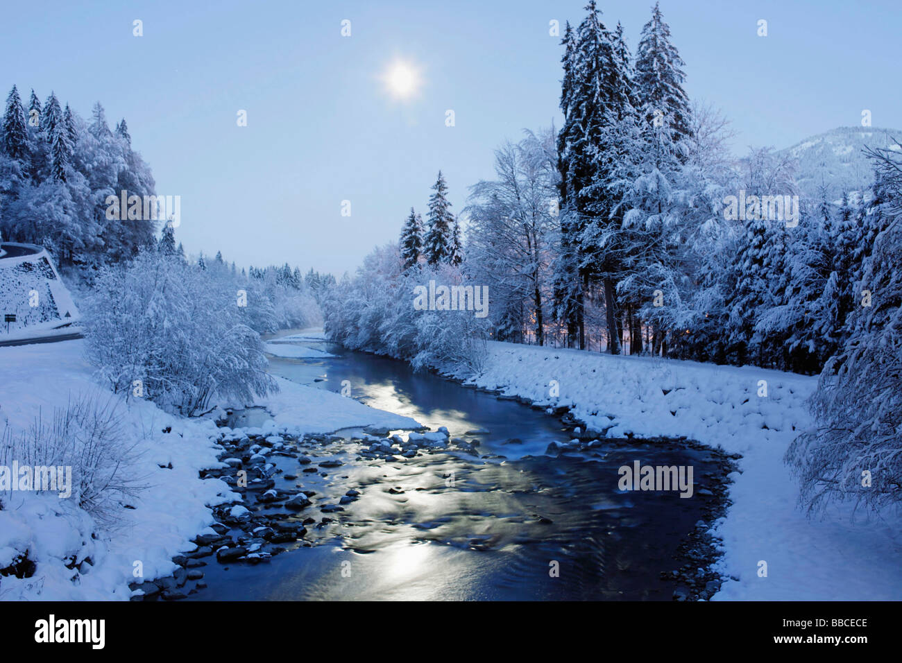 winter scene with moon stock photo 24246334 alamy