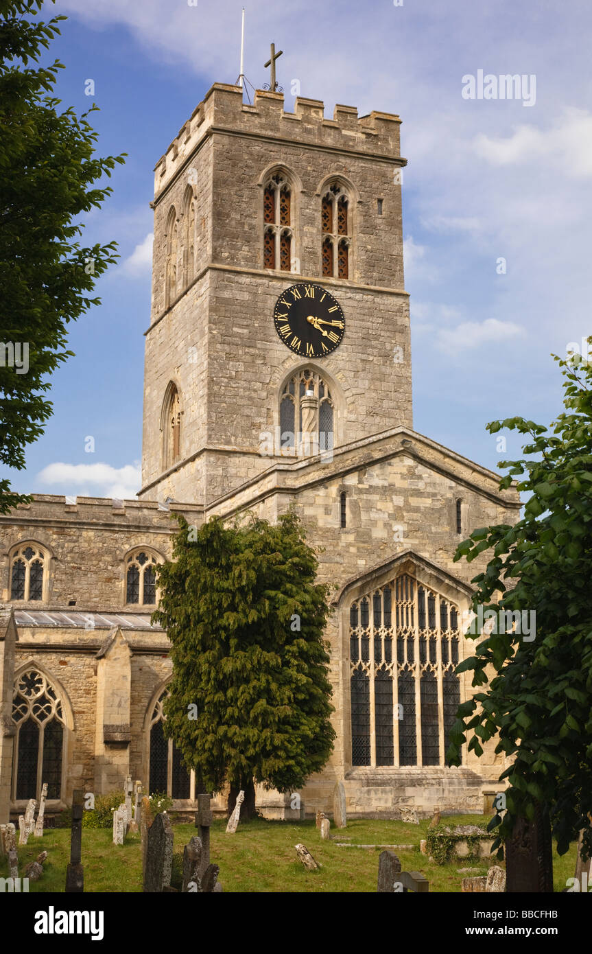 St Mary's church Thame Oxfordshire England - Stock Image