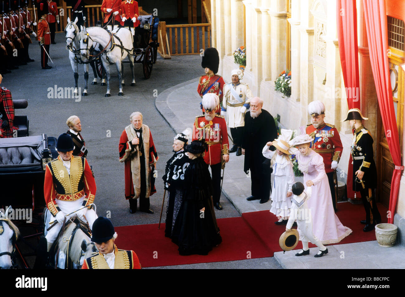 Royalty and Empire Exhibition Windsor Berkshire England UK waxwork models Queen Victoria, Prince of Wales tableau Stock Photo