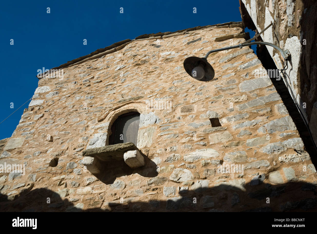 An old house in Vathia, Mani Stock Photo