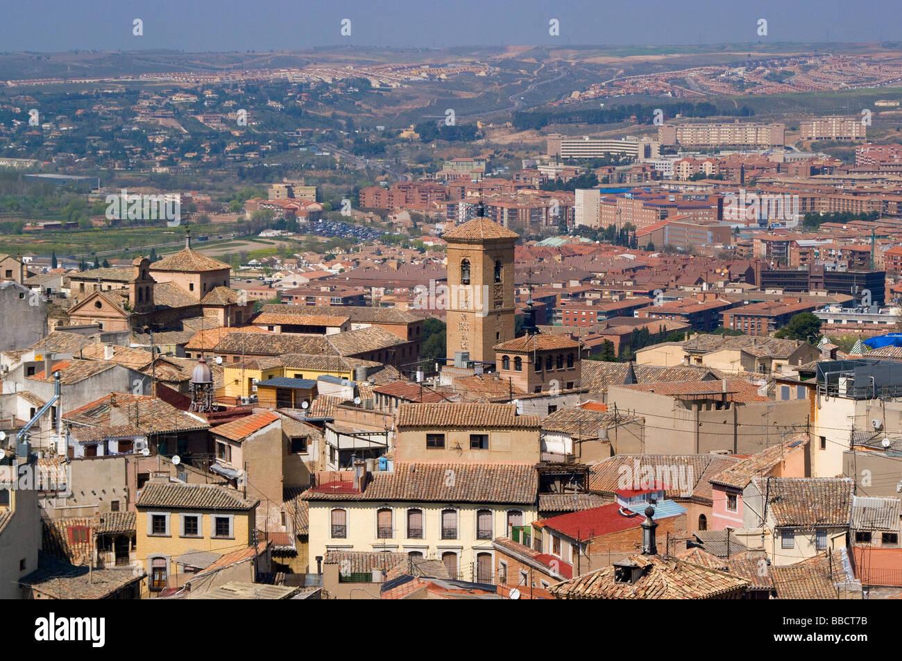 Vista aerea de la ciudad de toledo desde el Alcazar View of Toledo from the Alcazar - Stock Image
