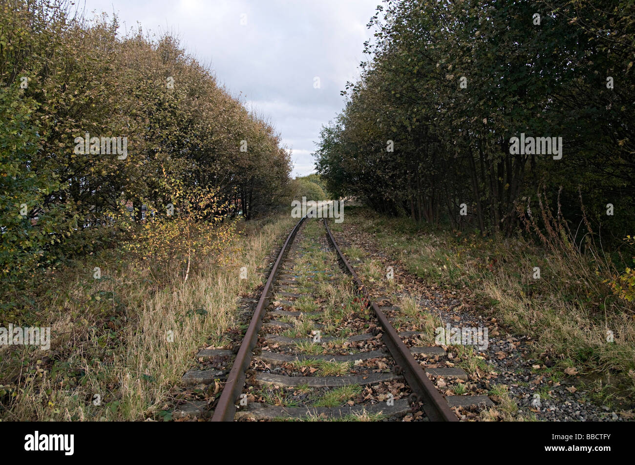 disused abandoned train tracks in dudley uk where the new