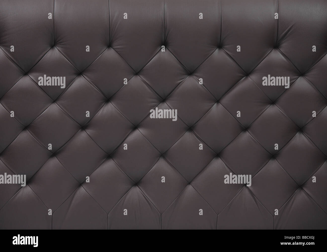 Black leather background - Stock Image