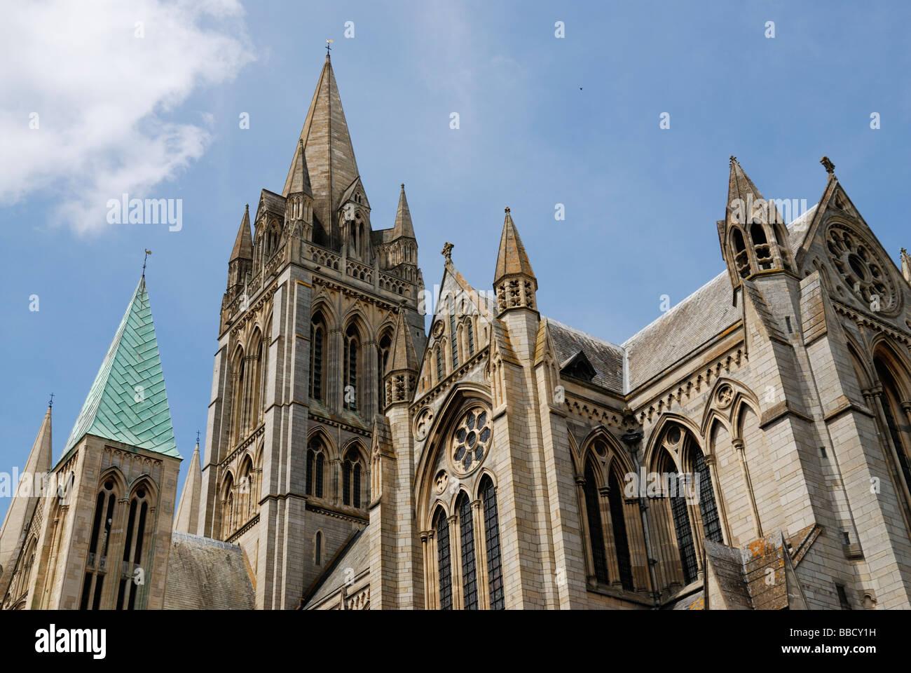 Truro Cathedral, Truro, Cornwall, UK, Europe - Stock Image