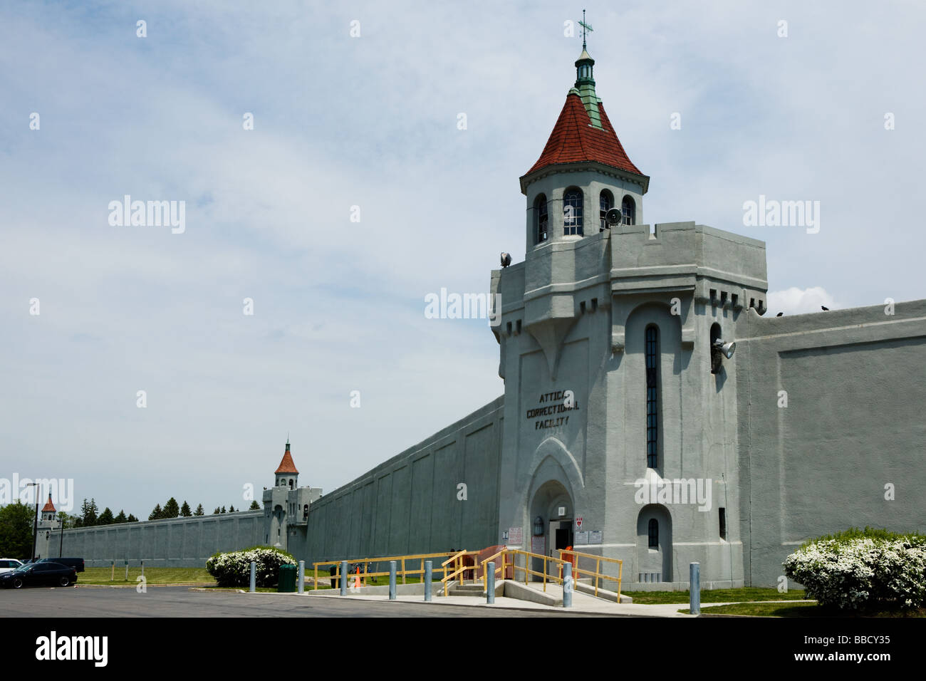 Attica Correctional Facility aka State Prison maximum security western New York Wyoming County site of infamous - Stock Image