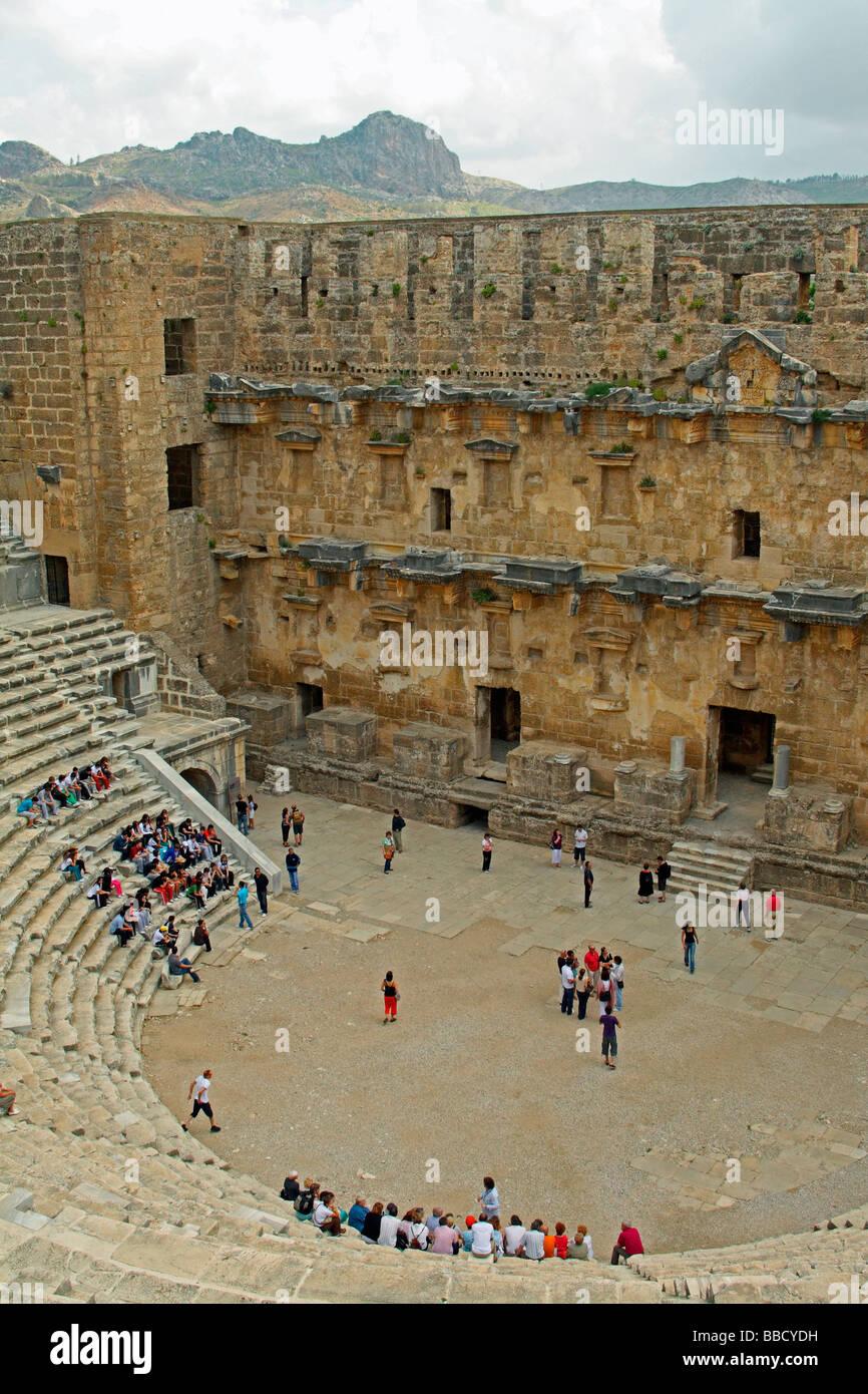The Roman theatre at Aspendos, near Antalya, Turkey - Stock Image
