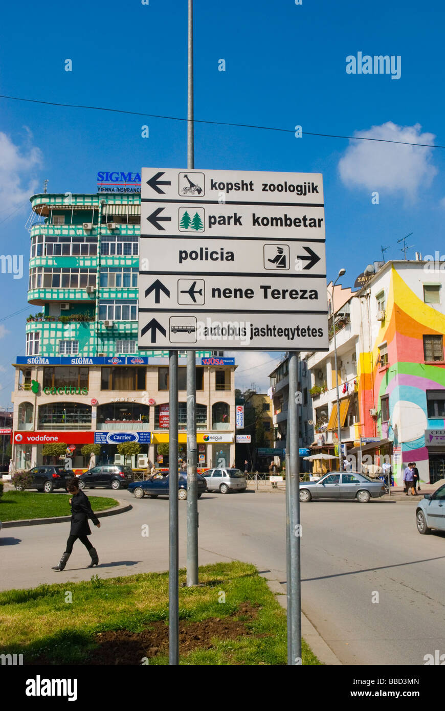 Blloku district Tirana Albania Europe - Stock Image