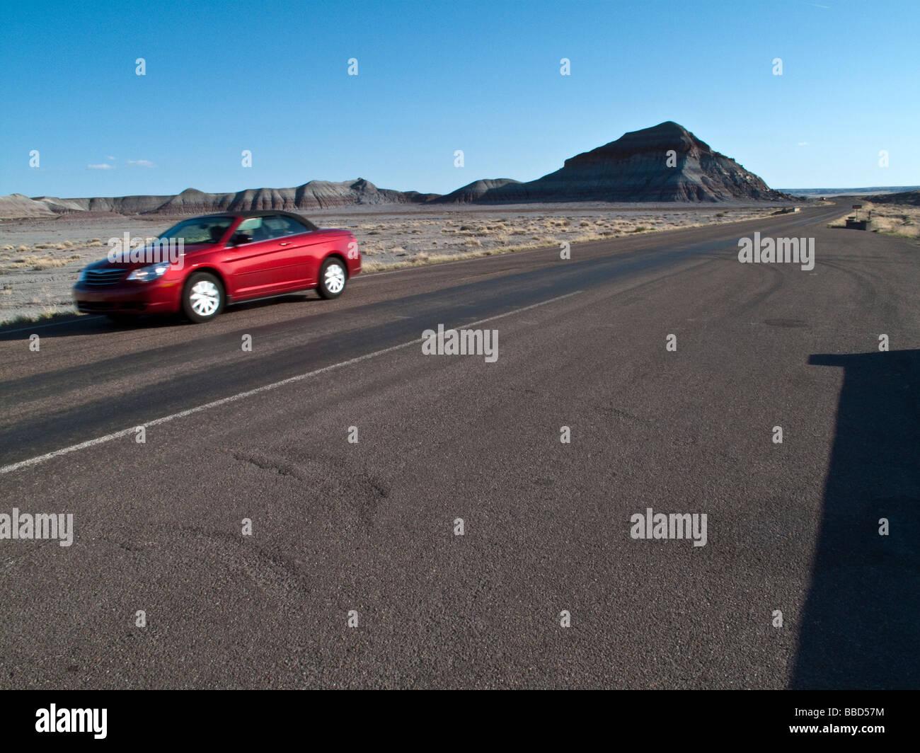 Desert Road, USA - Stock Image