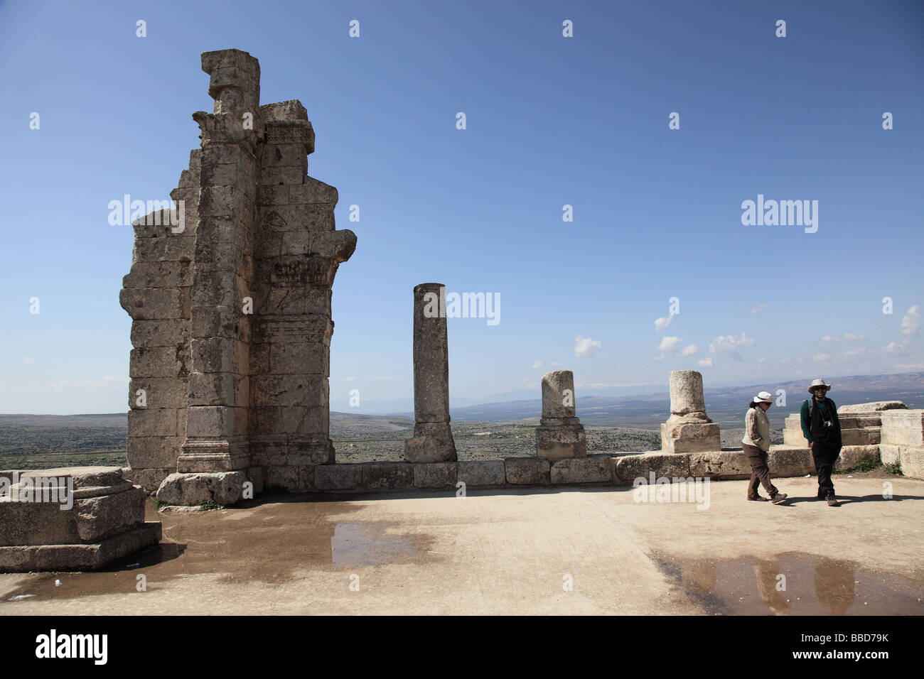 Aleppo Syria Syrian Middle East old ancient city Asia Citadel Aleppian religion Governorate Sunni Muslims muslim - Stock Image