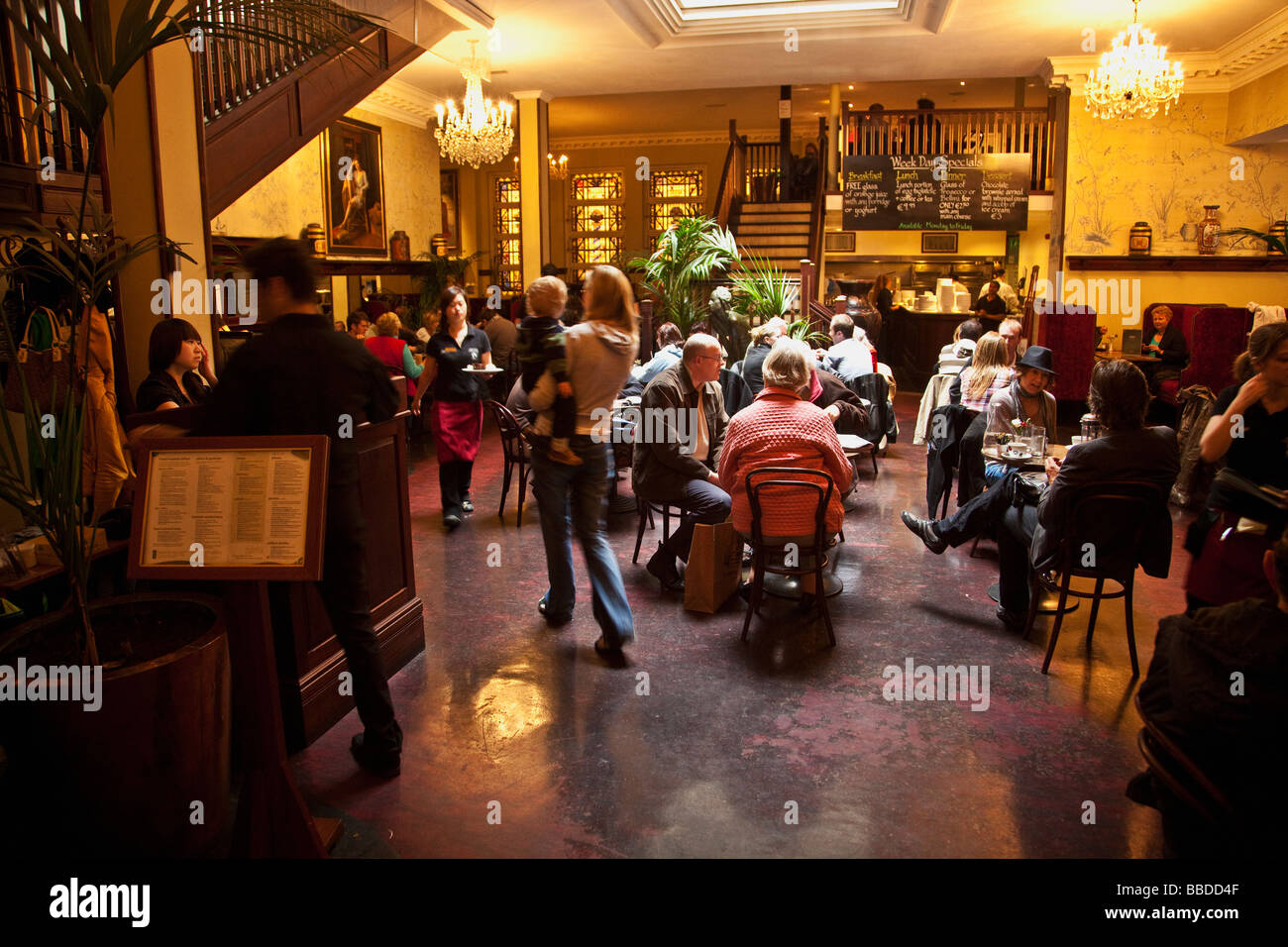 Bewleys Bewley's Cafe interior Dublin Ireland Eire Irish Republic - Stock Image