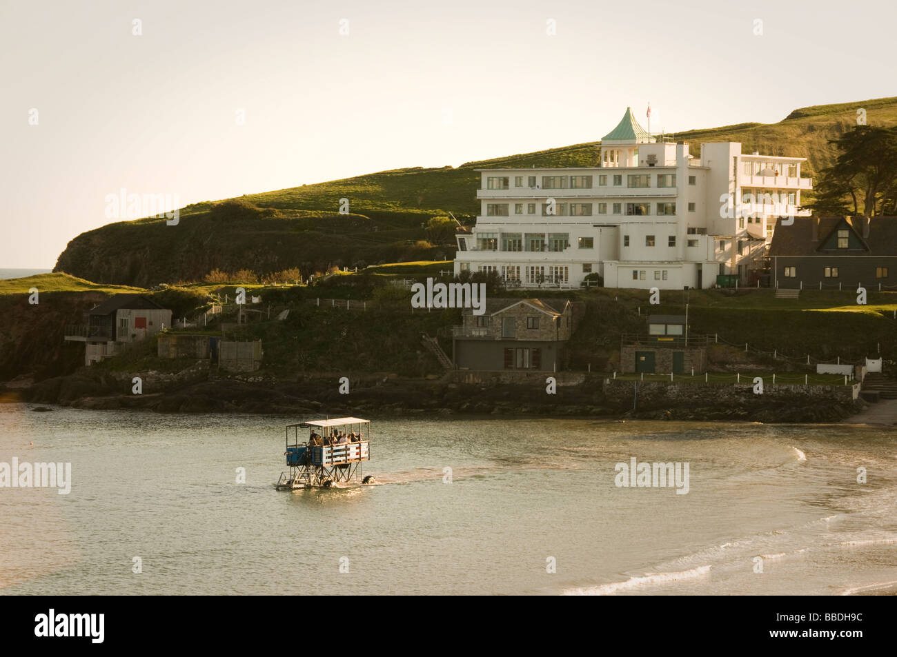 The Sea Tractor at Burgh Island in South Devon - Stock Image