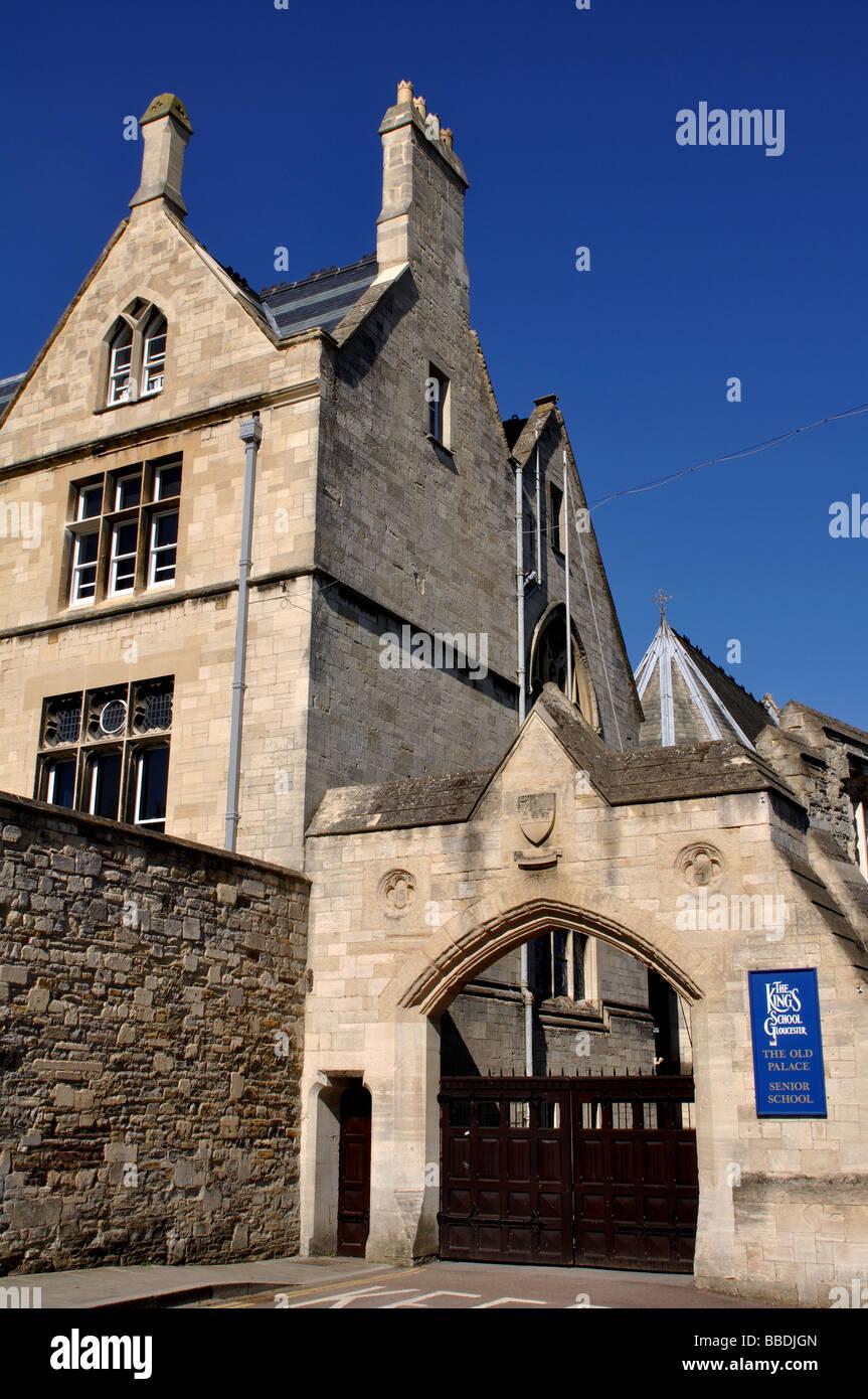 The Old Palace, King`s School, Gloucester, Gloucestershire, England, UK - Stock Image