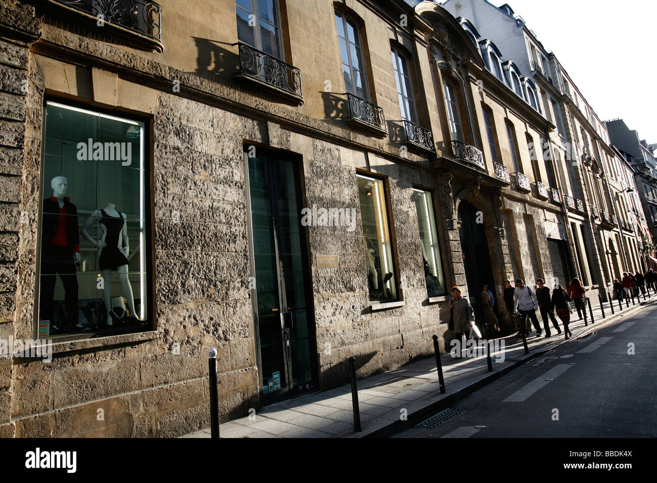 Rue Saint Andre des Arts, Paris France - Stock Image