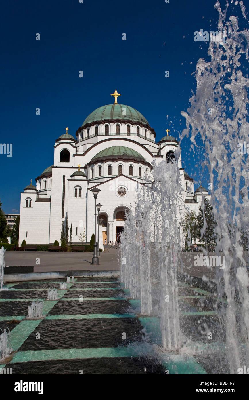 St Sava s Temple in Belgrade - Stock Image