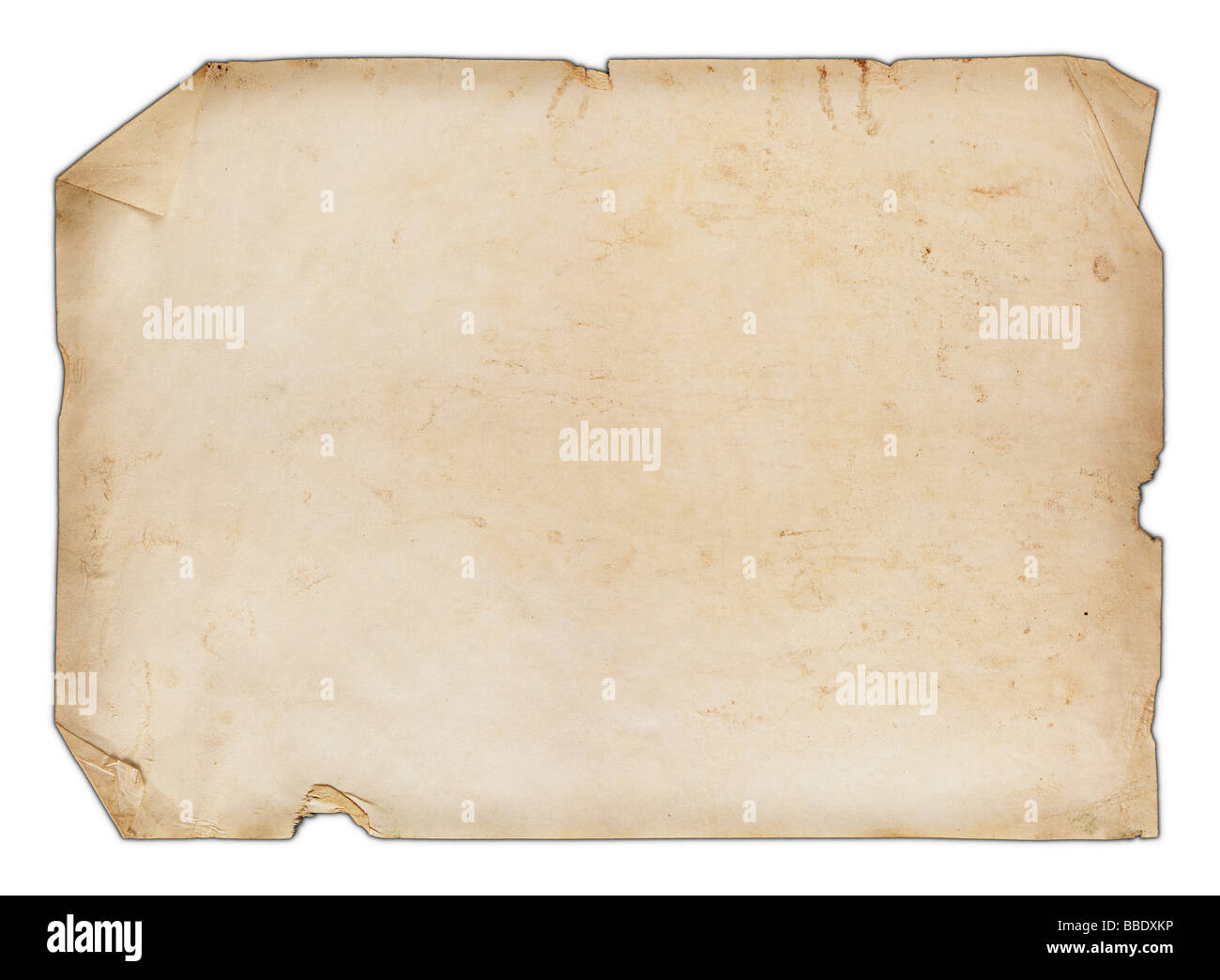 Old blank paper - Stock Image