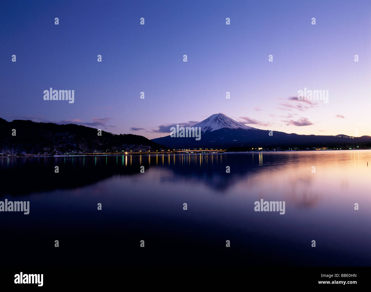 Mt.Fuji And Evening Glow - Stock Image