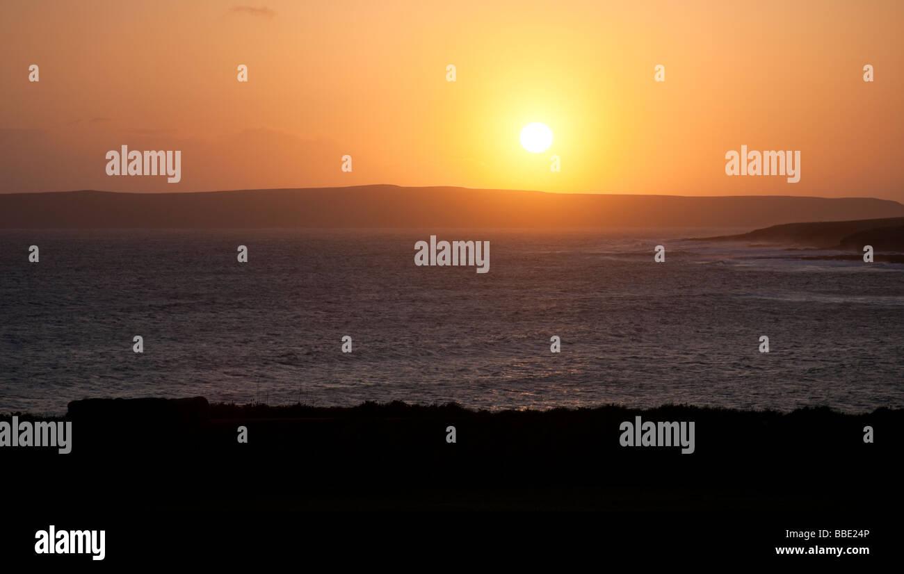 Sunset Pentland Firth, Thurso, Caithness, Scotland - Stock Image