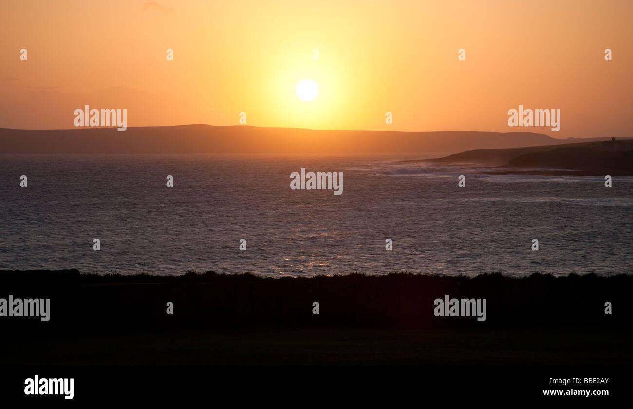sunset Thurso Caithness, Scotland - Stock Image