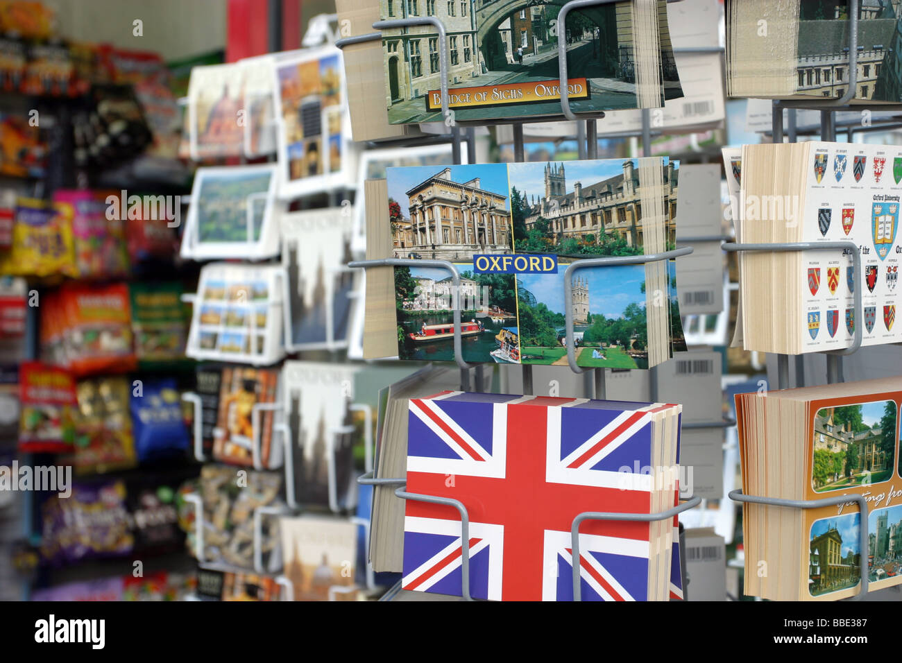 Newsagents selling postcards, Oxford - Stock Image