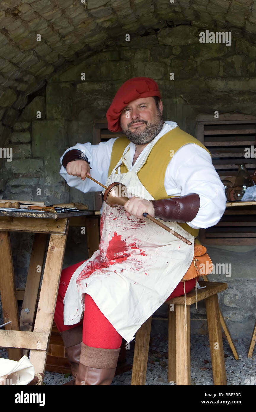 Medieval Surgeon Re Enacted By The Friends Of Dudley Castle West Midlands UK