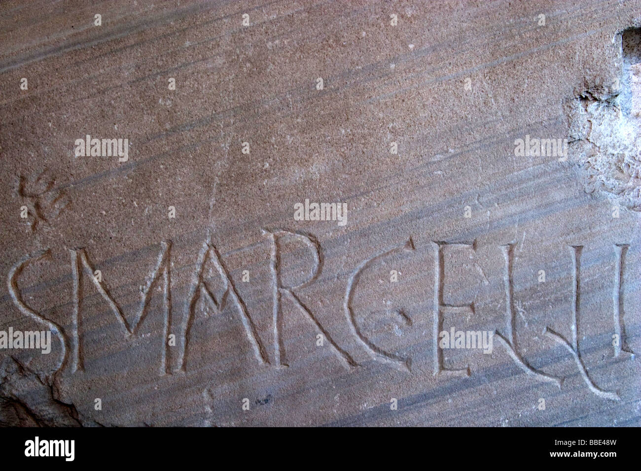 Roman graffiti stock image