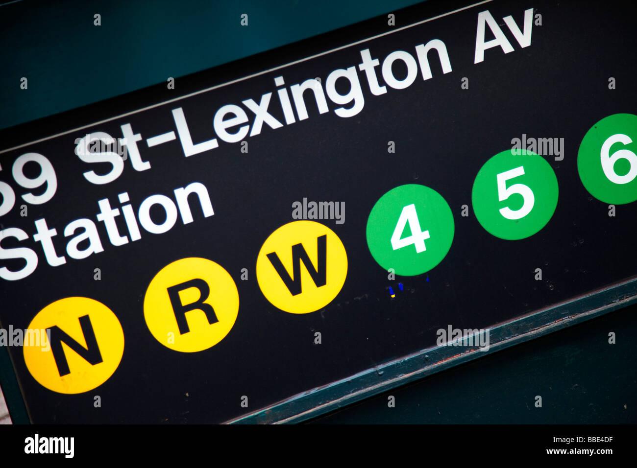 59th St Lex Subway Station New York