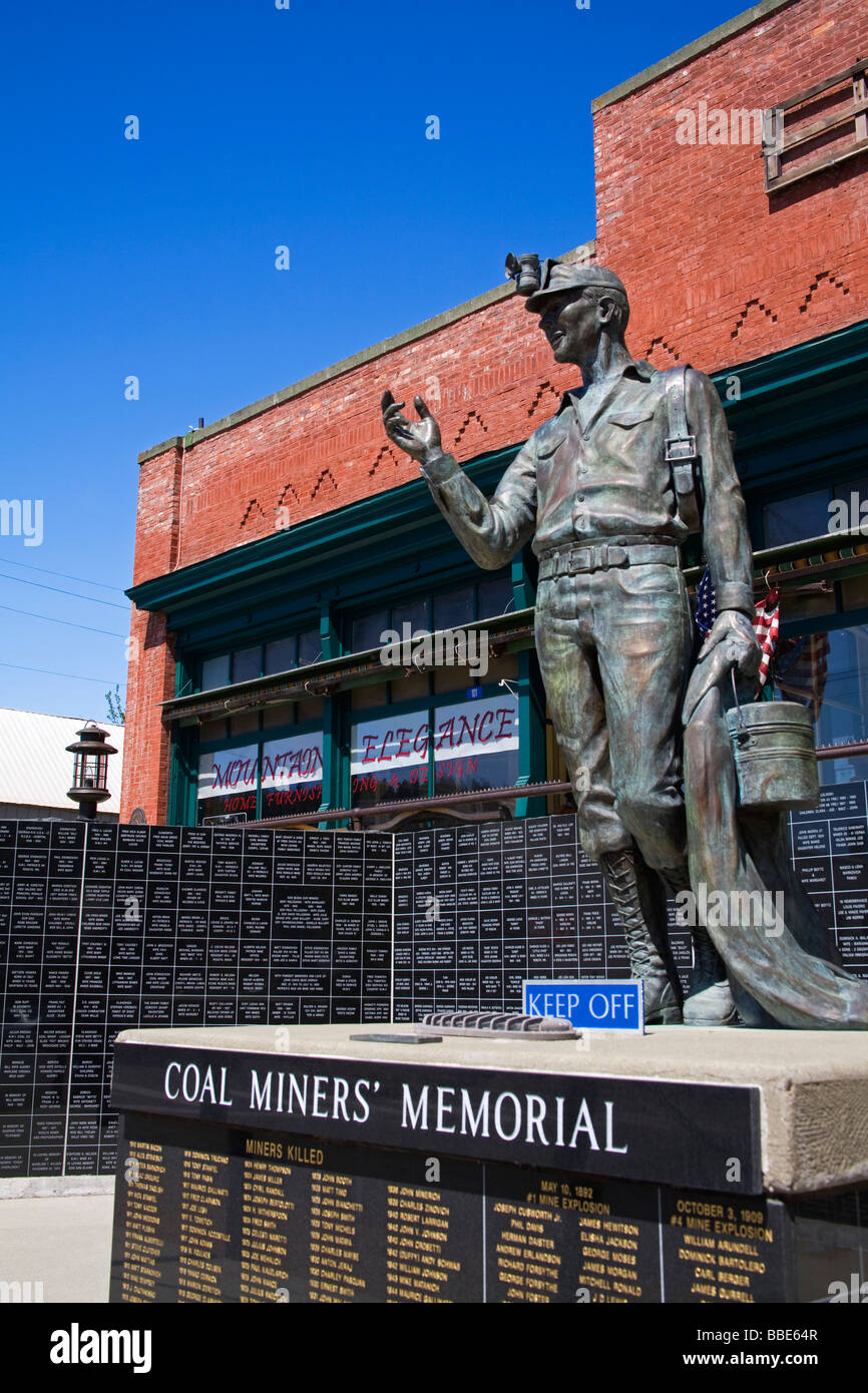 Coal Miners' Memorial; Roslyn, Washington, USA - Stock Image