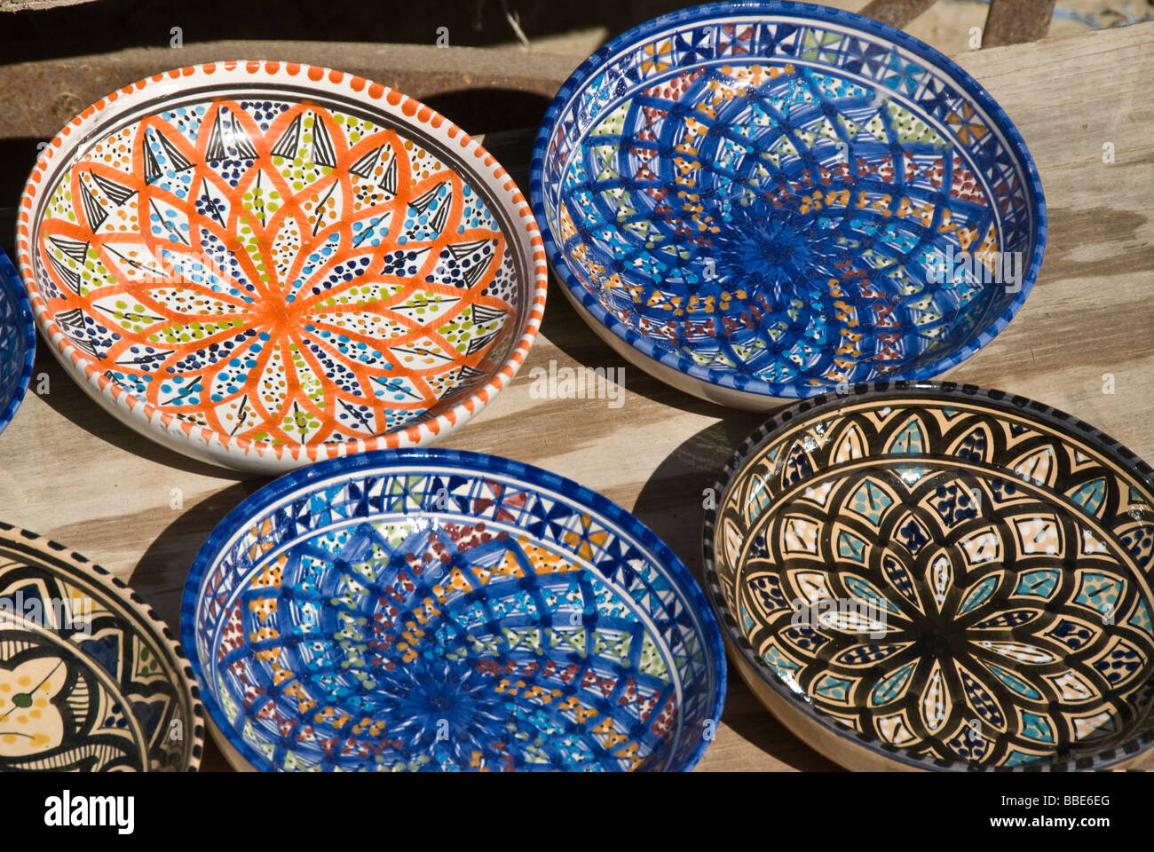 Traditional plates as souvenir in Tunisia & Traditional plates as souvenir in Tunisia Stock Photo: 24284024 - Alamy