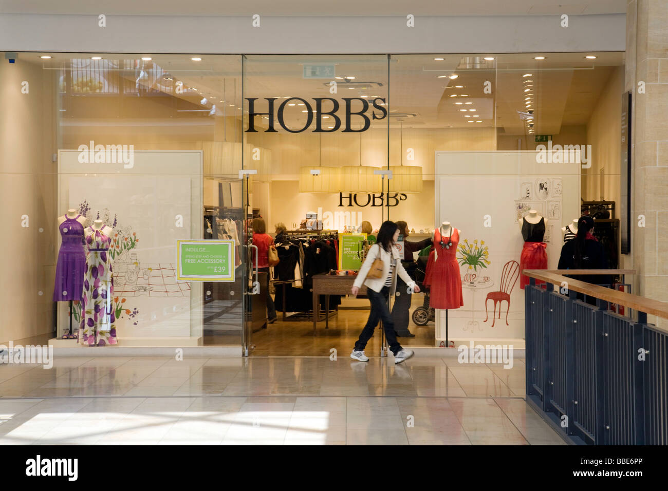 The Hobbs clothing store in the Grand Arcade, Cambridge, UK - Stock Image