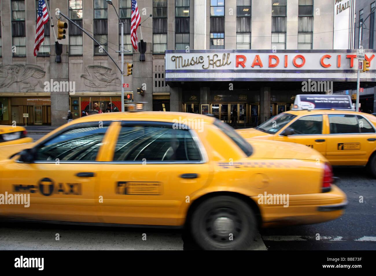 Radio City Music Hall, Midtown, Manhattan, New York City, USA, United States of America - Stock Image