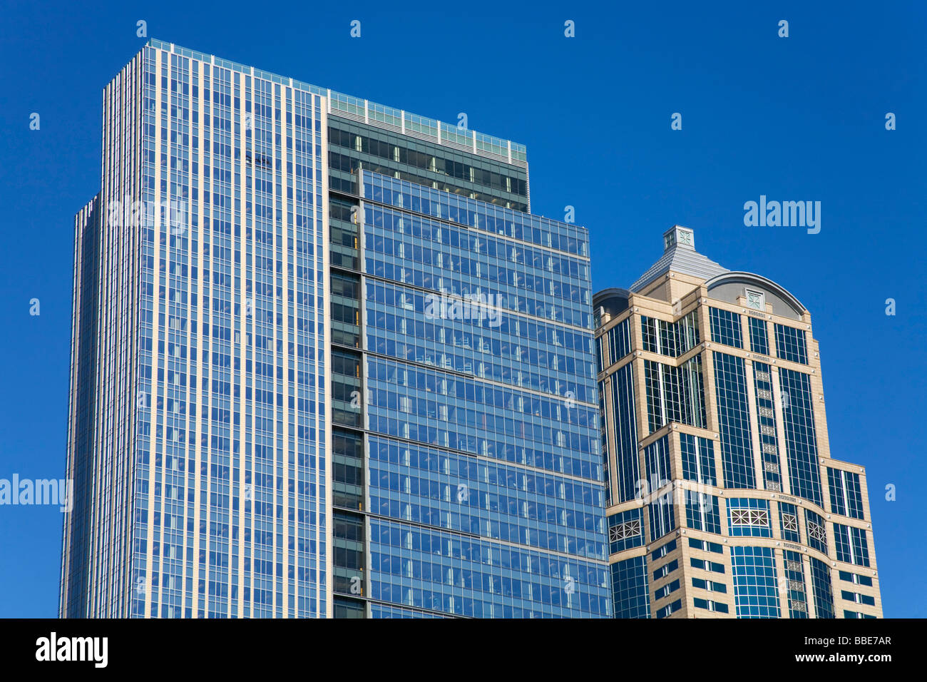 Washington Mutual Towers; Seattle, Washington State, USA - Stock Image