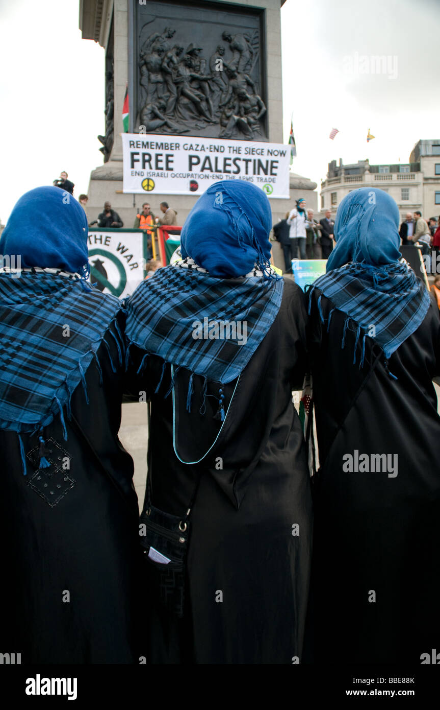 Anti Israel demonstrartion in London - Stock Image
